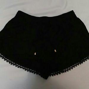 Wishlist Black Embroidered Shorts Medium